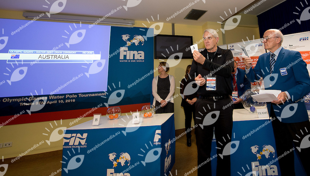 Women's draw for Olympic games <br /> FINA Men's Water polo Olympic Games Qualifications Tournament 2016<br /> Trieste, Italy - Swimming Pool Bruno Bianchi<br /> Day 08  10-04-2016<br /> Photo G.Scala/Insidefoto/Deepbluemedia