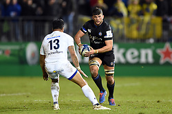 Mike Williams of Bath Rugby in possession - Mandatory byline: Patrick Khachfe/JMP - 07966 386802 - 06/12/2019 - RUGBY UNION - The Recreation Ground - Bath, England - Bath Rugby v Clermont Auvergne - Heineken Champions Cup