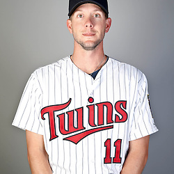 Feb 19, 2013; Fort Myers, FL, USA; Minnesota Twins outfielder Clete Thomas (11) poses for a portrait during photo day at Hammond Stadium. Mandatory Credit: Derick E. Hingle-USA TODAY Sports