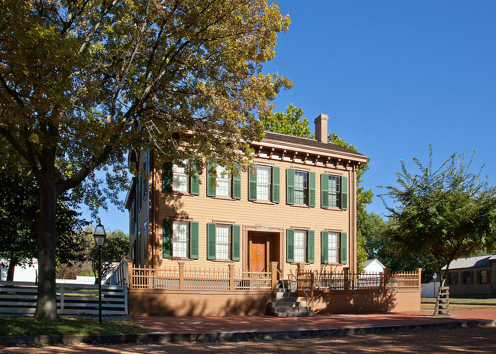 The house, purchased by Lincoln and his wife, Mary Todd Lincoln in 1844, was the only home that Lincoln ever owned. Located at the corner of Eighth and Jackson Streets, the house contains twelve rooms spread over two floors. During the time he lived here, Lincoln was elected to the House of Representatives in 1846, and elected President in 1860.<br /> Lincoln's son, Robert Todd Lincoln donated the family home to the State of Illinois in 1887 under the condition that it would forever be well-maintained and open to the public at no charge. The home and Lincoln Tomb, also in Springfield, were designated National Historic Landmarks on December 19, 1960, and automatically listed on the National Register of Historic Places on October 15, 1966. The home and adjacent district became a National Historic Site on August 18, 1971 [1] and is owned and administered by the National Park Service. As of 2010, it is the only National Park Service property in Illinois.<br /> Along with the Lincoln Home, several other structures within the four-block area are also preserved. All the homes have been restored to their appearance during the time Lincoln lived in the neighborhood. Two of these structures, the Dean House and the Arnold House, are open to visitors and house exhibits on the life and times of Lincoln and his neighbors. In total, the buildings included in the park occupy 12 acres (49,000 m2).