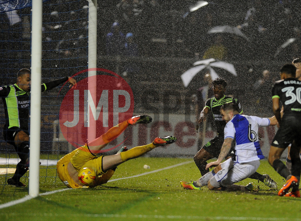 Peter Hartley of Bristol Rovers clinches the win with the fourth goal - Mandatory by-line: Neil Brookman/JMP - 10/12/2016 - FOOTBALL - Memorial Stadium - Bristol, England - Bristol Rovers v Bury - Sky Bet League One