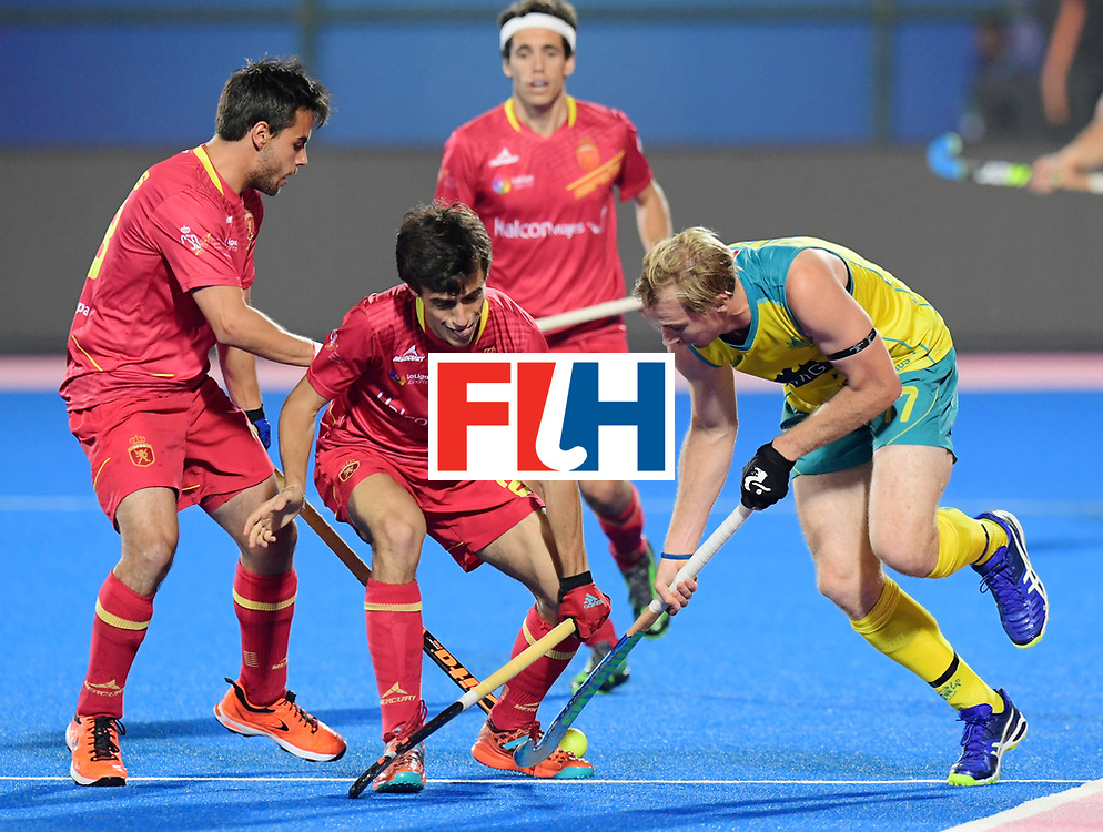 Odisha Men's Hockey World League Final Bhubaneswar 2017<br /> Match id:15<br /> Spain v Australia<br /> Foto: Aran Zalewski (Aus) <br /> COPYRIGHT WORLDSPORTPICS FRANK UIJLENBROEK