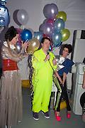 STEFANIA PRAMMA; JOE SCOTLAND; VALERIA NAPOLEONE, Pop party. the birthday celebration of twin sisters Valeria Napoleone and Stefania Pramma. Studio Voltaire, London SW4. 17 May 2013.