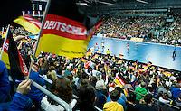 LEIPZIG -   Volle zaal van de  Arena Leipzig  tijdens een  wedstrijd van Duitsland  bij het WK Zaalhockey .  COPYRIGHT KOEN SUYK