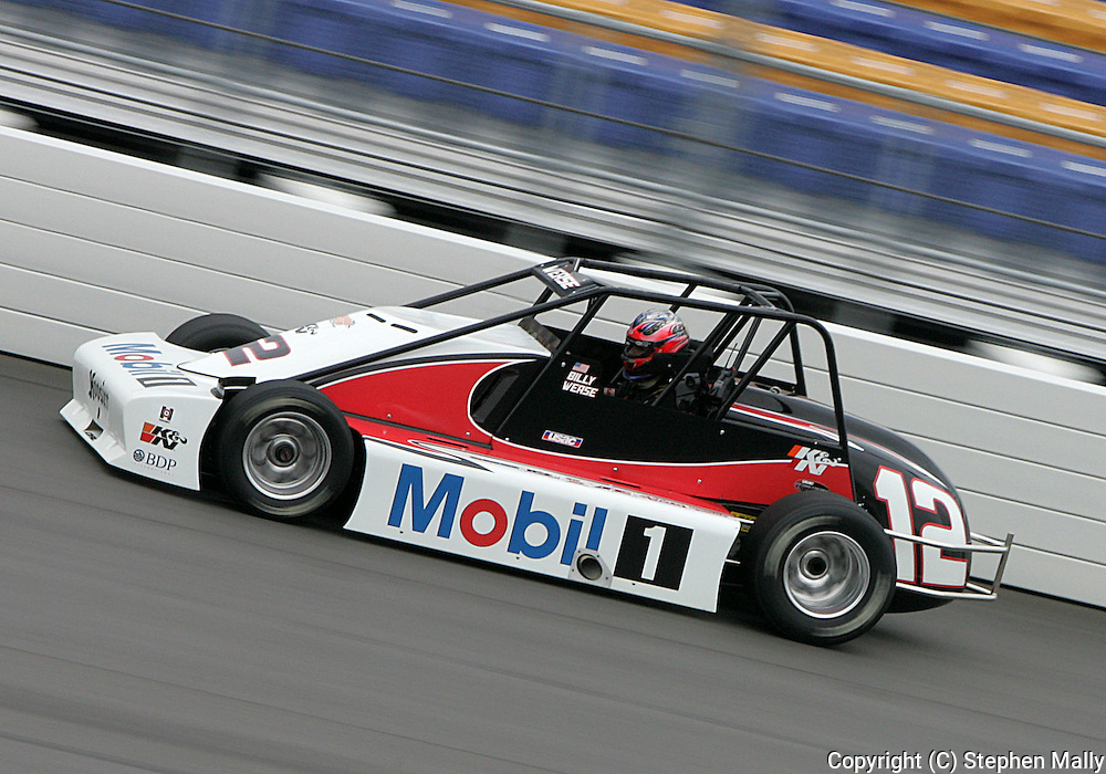 05 MAY 2007: Billy Wease (12) of Western Speed Racing practices in his Silver Crown car before the Casey's General Stores USAC Triple Crown at the Iowa Speedway in Newton, Iowa on May 5, 2007.