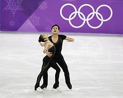 February 15, 2018 - Pyeongchang, KOREA - Tae Ok Ryom and Ju Sik Kim of North Korea compete in pairs free skating during the Pyeongchang 2018 Olympic Winter Games at Gangneung Ice Arena. (Credit Image: © David McIntyre via ZUMA Wire)