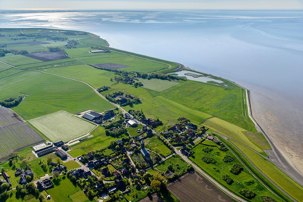 Nederland, Friesland, Gemeente Hollands Kroon, 07-05-2018; voormalig eiland Wieringen. Waddenkust omgeving Oosterland en Vatrop.<br /> Former island of Wieringen.<br /> <br /> luchtfoto (toeslag op standaard tarieven);<br /> aerial photo (additional fee required);<br /> copyright foto/photo Siebe Swart