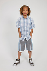 Portrait of boy full length