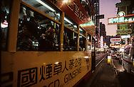 Hong Kong. tramways in Causeway bay shopping area         / ramways dans le quartier de Causeway bay , le quartier le plus commercial       / R00092/84    L1683  /  P0001867