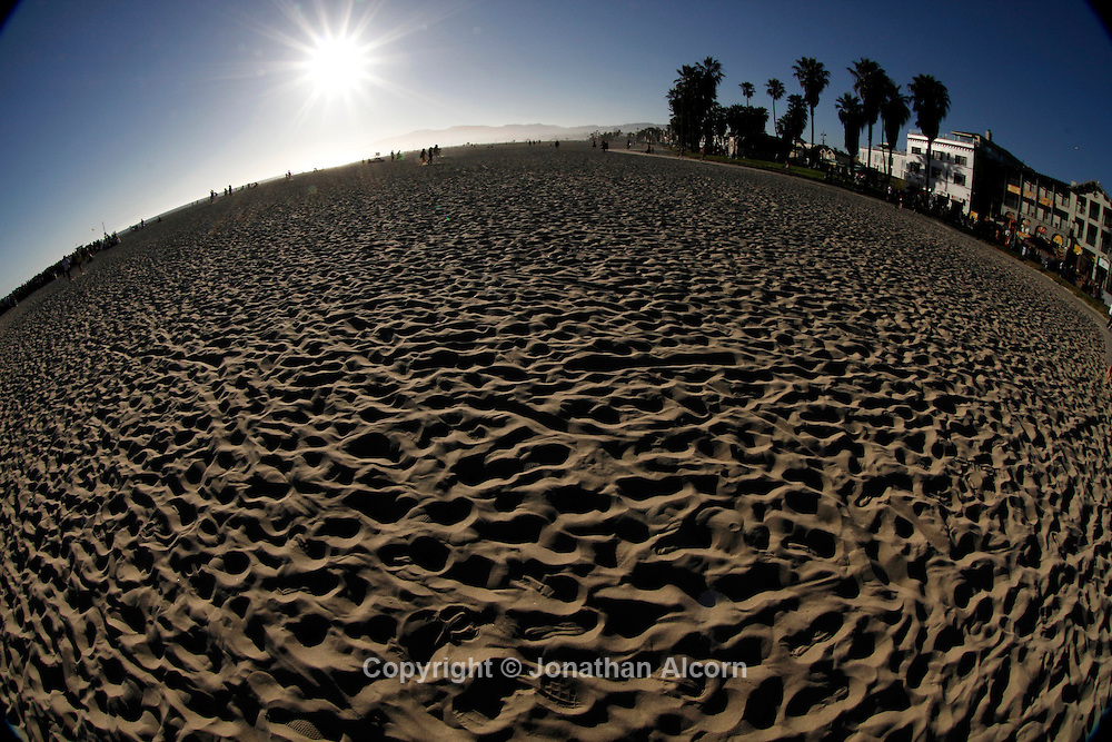 Venice Beach photographed with a fisheye lens..photo by Jonathan Alcorn.