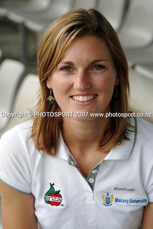 New Zealand's Susan Blundell. New Zealand Open Beach Volleyball media session. ASB Tennis Centre, Auckland, New Zealand. Thursday 17 January 2008. Photo: Hagen Hopkins/PHOTOSPORT