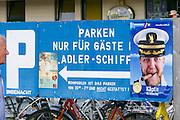 Sylt, Germany. Hörnum. Parking only for guests of Adler-Schiffe (Adler Ships).