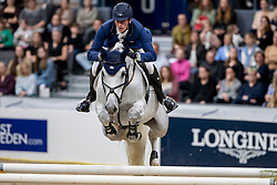 DEUSSER Daniel (GER), Jasmien v. Bisschop<br /> Göteborg - Gothenburg Horse Show 2019 <br /> Gothenburg Trophy presented by VOLVO<br /> Int. jumping competition with jump-off (1.55 m)<br /> Longines FEI Jumping World Cup™ Final and FEI Dressage World Cup™ Final<br /> 06. April 2019<br /> © www.sportfotos-lafrentz.de/Stefan Lafrentz