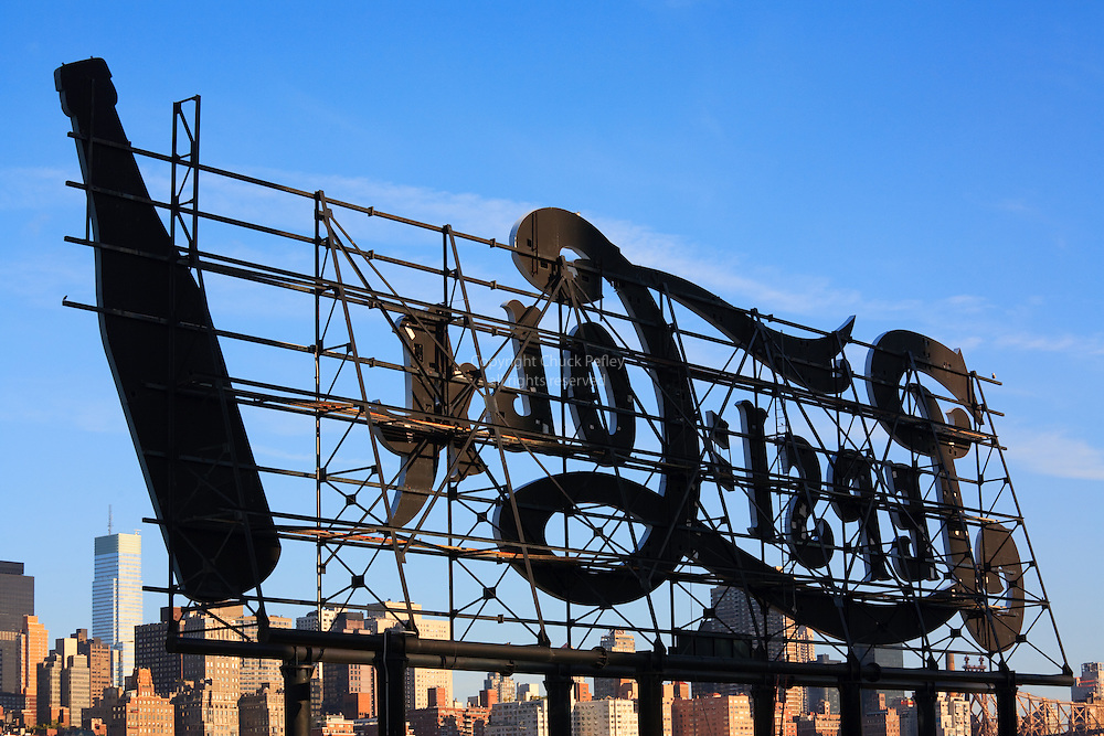 Pepsi Cola sign, Gantry Plaza State Park, Hunters Point, Long Island City, Queens, New York