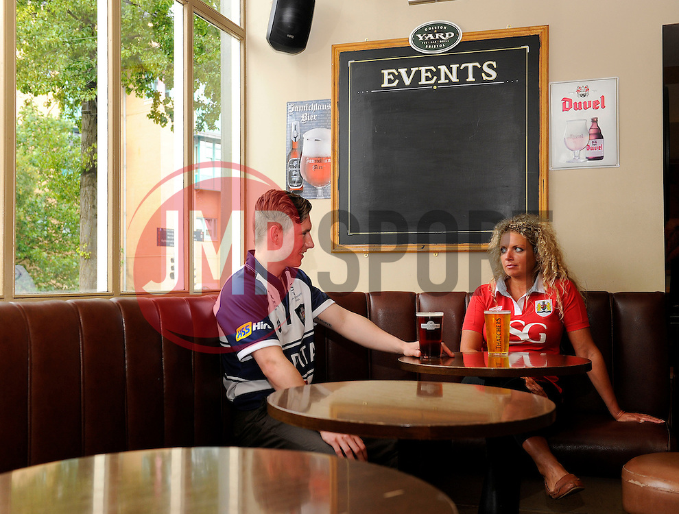 Aidan Dodd and Suzanne Roper enjoy a drink in the Colston Yard Pub - Photo mandatory by-line: Joe Meredith/JMP - Mobile: 07966 386802 05/08/2014 - Bristol - Colston yard Pub - Pouring Rights
