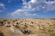 Uzbekistan, Samarqand. Afrosiab (Afrosiyob) excavation site.