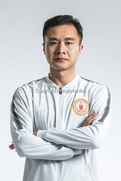 **EXCLUSIVE**Portrait of Chinese soccer player Feng Renliang of Beijing Renhe F.C. for the 2018 Chinese Football Association Super League, in Shanghai, China, 24 February 2018.