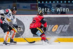 22.10.2016, Ice Rink, Znojmo, CZE, EBEL, HC Orli Znojmo vs Dornbirner Eishockey Club, 13. Runde, im Bild v.l. Michael Caruso (Dornbirner) Radek Cip (HC Orli Znojmo) // during the Erste Bank Icehockey League 13th round match between HC Orli Znojmo and Dornbirner Eishockey Club at the Ice Rink in Znojmo, Czech Republic on 2016/10/22. EXPA Pictures © 2016, PhotoCredit: EXPA/ Rostislav Pfeffer
