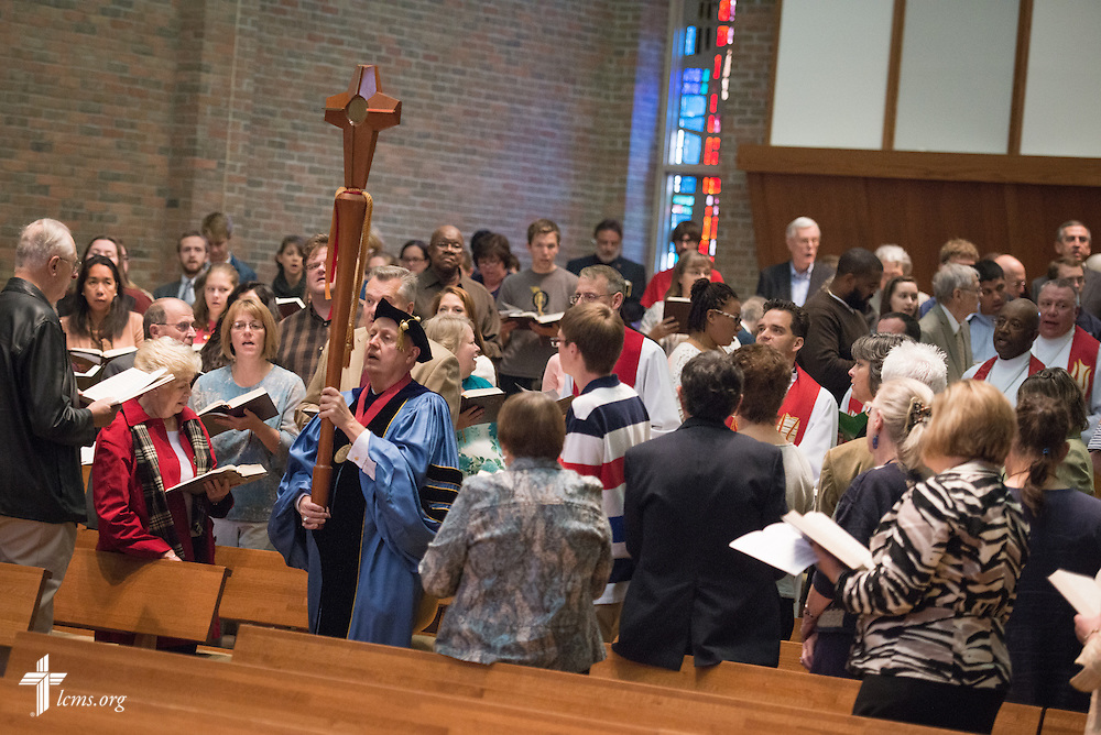The Service of Praise Commemorating the Sesquicentennial of Concordia University Chicago begins in the Chapel of Our Lord on the university campus in River Forest, Ill., on Sunday, Oct. 12, 2014. LCMS Communications/Erik M. Lunsford