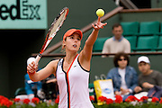 Paris, France. May 27th 2009. .Roland Garros - Tennis French Open. 1st Round..French player Alize Cornet against Maret Ani..