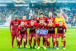 25.10.2018, Red Bull Arena, Salzburg, AUT, UEFA EL, FC Salzburg vs Rosenborg BK, Gruppe B, im Bild v.l. Amadou Haidara (FC Salzburg), Andreas Ulmer (FC Salzburg), Zlatko Junuzovic (FC Salzburg), Hannes Wolf (FC Salzburg), Diadie Samassekou (FC Salzburg), Munas Dabbur (FC Salzburg), Andre Ramalho (FC Salzburg), Fredrik Gulbrandsen (FC Salzburg), Marin Pongracic (FC Salzburg), Stefan Lainer (FC Salzburg), Alexander Walke (FC Salzburg) // during the UEFA Europa League Group B Match between FC Salzburg and Rosenborg BK at the Red Bull Arena in Salzburg, Austria on 2018/10/25. EXPA Pictures © 2018, PhotoCredit: EXPA/ Stefan Adelsberger