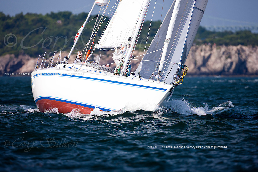 Ocean Wanderer, class 14, sailing at the start of the Newport Bermuda Race 2010. The race began in Newport, Rhode Island on June 18, 2010.