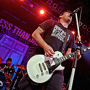 American Punk/Ska band Less Than Jake headline  in a triple punk/ska fest at Glasgow's O2 ABC (PLEASE DO NOT REMOVE THIS CAPTION)<br /> This image is intended for portfolio use only.. Any commercial or promotional use requires additional clearance. <br /> &copy; Copyright 2014 All rights protected.<br /> first use only<br /> contact details<br /> Stuart Westwood <br /> 07896488673<br /> stuartwestwood44@hotmail.com<br /> no internet usage without prior consent. <br /> Stuart Westwood reserves the right to pursue unauthorised use of this image . If you violate my intellectual property you may be liable for damages, loss of income, and profits you derive from the use of this image.
