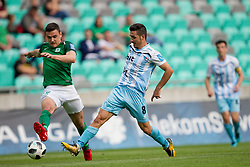 Filip Uremovic of NK Olimpija Ljubljana and Marko Tesija of ND Gorica during football match between NK Olimpija Ljubljana and ND Gorica in Round #29 of Prva liga Telekom Slovenije 2017/18, on April 29, 2018 in SRC Stozice, Ljubljana, Slovenia. Photo by Urban Urbanc / Sportida