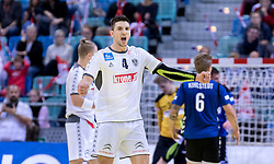 02.11.2016, Arena Nova, Wiener Neustadt, AUT, EHF, Handball EM Qualifikation, Österreich vs Finnland, Gruppe 3, im Bild Maximilian Hermann (AUT)// during the EHF Handball European Championship 2018, Group 3, Qualifier Match between Austria and Finland at the Arena Nova, Wiener Neustadt, Austria on 2016/11/02. EXPA Pictures © 2016, PhotoCredit: EXPA/ Sebastian Pucher