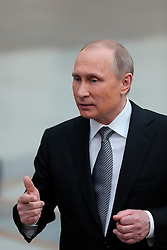 Russian President Vladimir Putin receives interviews after a televised question-and-answer session in Moscow, Russia, on April 14, 2016. EXPA Pictures © 2016, PhotoCredit: EXPA/ Photoshot/ Bai Xueqi<br /> <br /> *****ATTENTION - for AUT, SLO, CRO, SRB, BIH, MAZ, SUI only*****