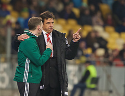 KIEV, UKRAINE - Easter Monday, March 28, 2016: Wales' manager Chris Coleman during the International Friendly match against Ukraine at the NSK Olimpiyskyi Stadium. (Pic by David Rawcliffe/Propaganda)