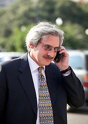 03 June  2015. New Orleans, Louisiana. <br /> Psychiatrist Dr Ted Bloch III leaves court after attending day 3 of a hearing to determine the competency of Tom Benson. Bloch assessed Tom Benson for dementia on behalf of the LeBlanc family. Benson is the billionaire owner of the NFL New Orleans Saints, the NBA New Orleans Pelicans, various auto dealerships, banks, property assets and a slew of business interests. Rita, her brother and mother demanded a competency hearing after Benson changed his succession plans and decided to leave the bulk of his estate to third wife Gayle, sparking a controversial fight over control of the Benson business empire.<br /> Photo©; Charlie Varley/varleypix.com