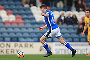 GOAL Ian Henderson scores from the penalty spot 2-0 during the The FA Cup match between Rochdale and Bromley at Spotland, Rochdale, England on 4 November 2017. Photo by Daniel Youngs.