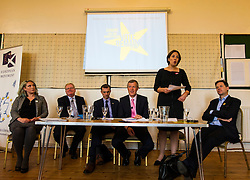 Pictured: <br /> <br /> Scottish Labour leader  Kezia Dugdale MSP  joined Scottish Greens Sarah-Beattie Smith, Conservative Jackson Carlop, SNP's Steven Geffins MP along with  Liberal Democrats Nick Clegg and Willie Rennie at the European Movement for Scotland rally in Edinburgh today.<br /> Ger Harley | EEm 16 June 2016