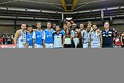 Premiazione 1^ Classificata Banco di Sardegna Dinamo Sassari<br /> Torneo Meridiana PalaAltoGusto Geovillage Finale<br /> Banco di Sardegna Dinamo Sassari - Sidigas Scandone Avellino<br /> Olbia, 03/09/2017<br /> Foto L.Canu / Ciamillo-Castoria