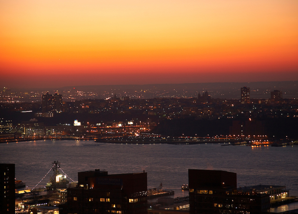 View of the Hudson River and New Jersey from 322 West 57th street, 52nd floor