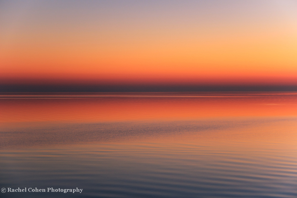 &quot;Soothing&quot;<br /> <br /> Peaceful, calm, pastel hued sunrise over Lake Huron!!<br /> <br /> The Great Lakes by Rachel Cohen