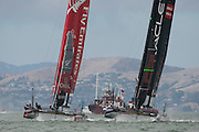 Emirates Team New Zealand and Oracle Team USA 4. America's Cup World Series, San Francisco. 23/8/2012