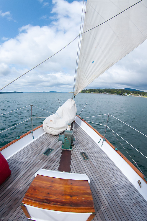 Sailing Into the San Juan Islands on the Orion, Puget Sound, Washington