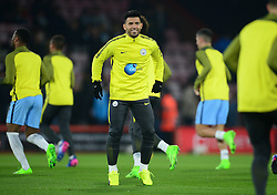 Sergio Aguero of Manchester City warms up prior to his 3rd start on the bench.  - Mandatory by-line: Alex James/JMP - 13/02/2017 - FOOTBALL - Vitality Stadium - Bournemouth, England - Bournemouth v Manchester City - Premier League