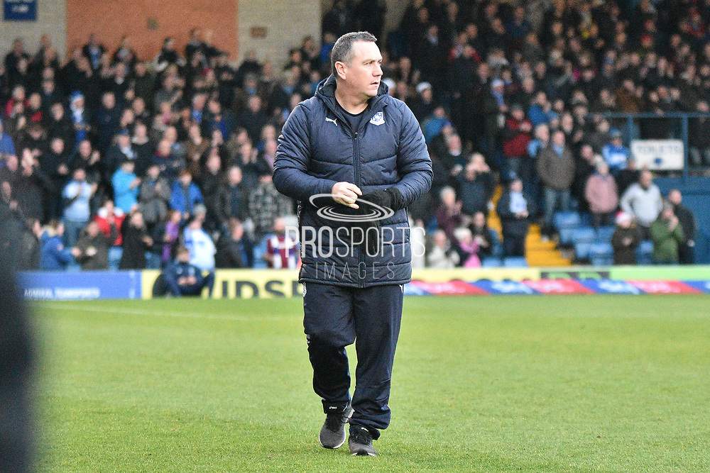 Tranmere Rovers Manager, Micky Mellon  during the EFL Sky Bet League 2 match between Bury and Tranmere Rovers at the JD Stadium, Bury, England on 22 December 2018.
