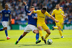 May 12, 2019 - Leicester, England, United Kingdom - Leicester City midfielder James Maddison battling with Pedro of Chelsea during the Premier League match between Leicester City and Chelsea at the King Power Stadium, Leicester on Sunday 12th May 2019. (Credit Image: © Mi News/NurPhoto via ZUMA Press)