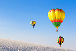 hot air balloon festival in White Sands National Park in New Mexico