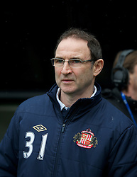 NEWCASTLE, ENGLAND - Sunday, March 4, 2012: Sunderland's manager Martin O'Neill before the Premiership match against Newcastle United at St. James' Park. (Pic by David Rawcliffe/Propaganda)