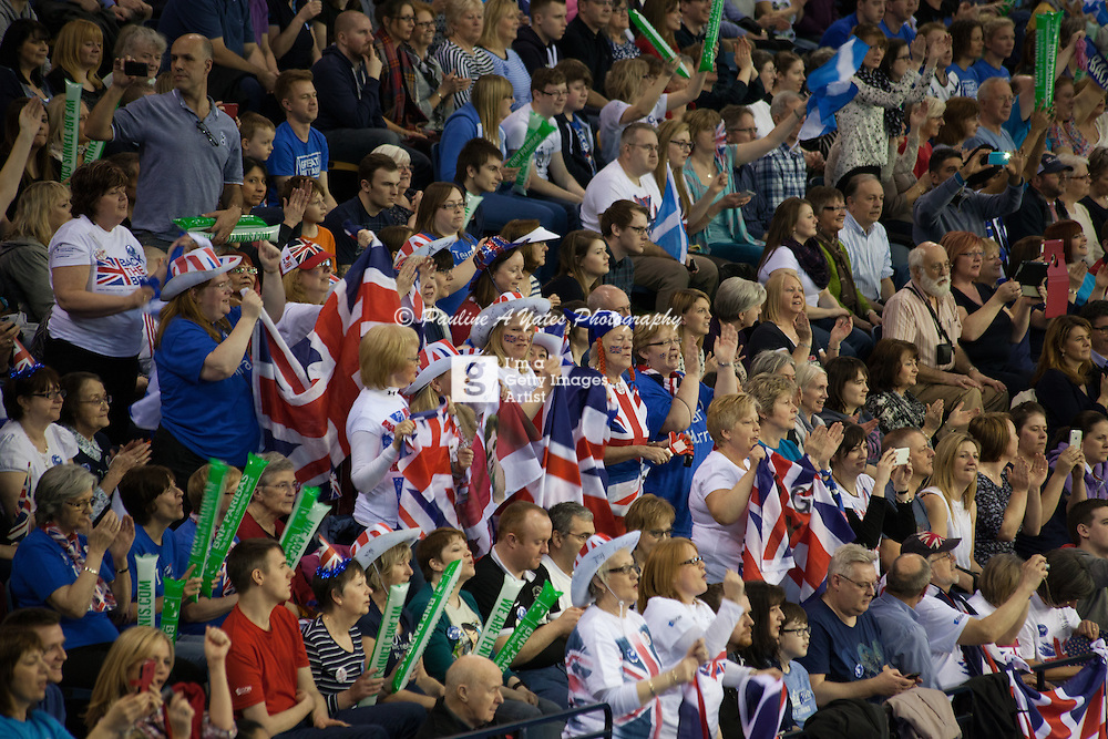 The crowd cheers Team GB, but reserve the loudest cheer for Andy Murray