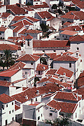 SPAIN, ANDALUSIA BENALADALID; mountain village in the Serrania de Ronda, between Ronda and the Costa del Sol