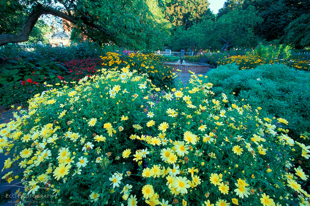 Prescott Park garden.  Portsmouth, NH