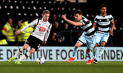 Matej Vydra of Derby County takes on Pawel Wszolek of Queens Park Rangers - Mandatory by-line: Robbie Stephenson/JMP - 31/03/2017 - FOOTBALL - iPro Stadium - Derby, England - Derby County v Queens Park Rangers - Sky Bet Championship