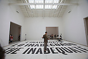 "54th Biennale of Venice..ILLUMInazioni - ILLUMInations.Giardini, Spanish Pavillion..Dora Garcia, ""L'Inadeguato"", 2011. Performance ""Best Regards from Charles Filch""."
