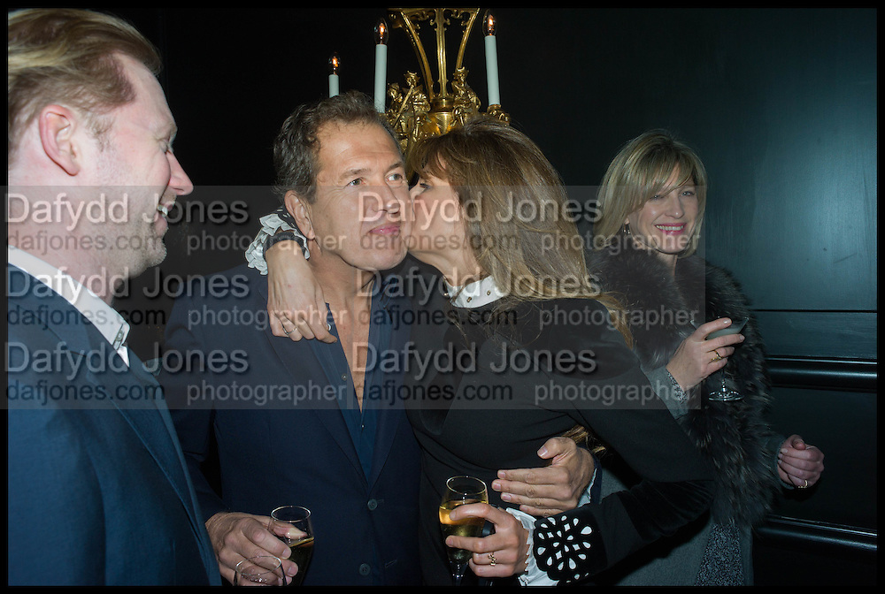 JAN OLESEN; MARIO TESTINO; JEMIMA KHAN, Party to celebrate Vanity Fair's very British Hollywood issue. Hosted by Vanity Fair and Working Title. Beaufort Bar, Savoy Hotel. London. 6 Feb 2015
